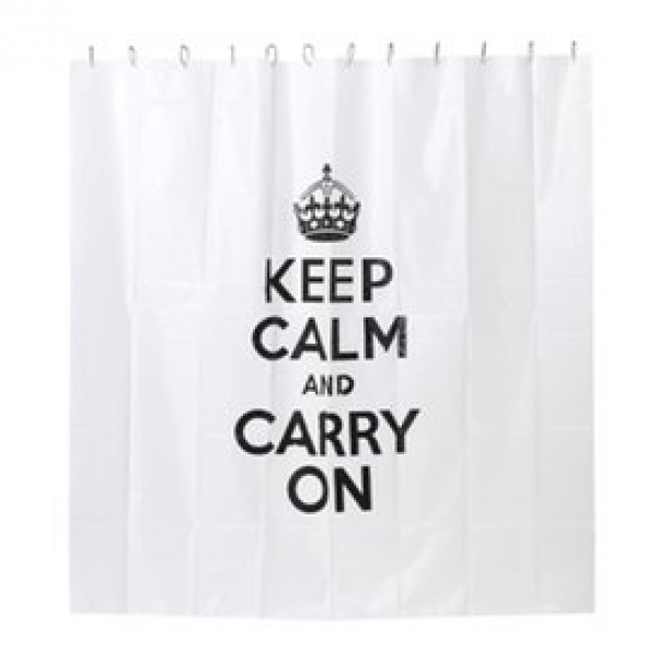 Keep calm and carry on shower curtain - Keith haring shower curtain ...